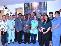 Photo of the urology team in their new unit