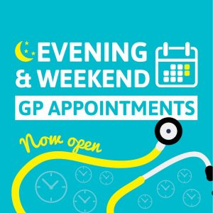 Evening and weekend GP appointments now open