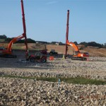 Vertical Band Drain installation at Combe Haven (Small)