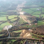Aerial view of the Bexhill to Hastings Link Road