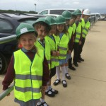 Children from Crowhurst Primary School visit the Bexhill to Hastings Link Road site