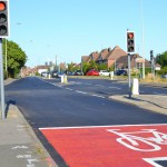 Resurfacing work at Dittons Road, Eastbourne