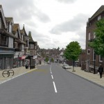 An artist's impression showing improvement works in Uckfield town centre'