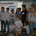 Members of the Spray Sprites Team 15 squad celebrate their success at the National Windsurfing Championships