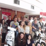 Young people who completed the Heathfield Works programme with rock legend Roger Daltrey