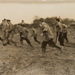 WW1 website - Soldiers and boys play football at Chailey Heritage Craft School