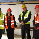 A topping-out ceremony was held at the site of Bentley Grange, the new extra care development in Hailsham