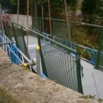 Installation of a new lightweight footbridge in Sedlescombe