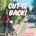 Poster promoting the Cut It Back campaign on overhanging trees and hedges