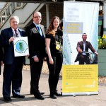 The Travel Choice Challenge runs throughout May 2015. Pictured (from left) at Lewes Railway Station are: Sarah Evans and Mark Epson, from Southern Rail, Patrick Warner, from Brighton & Hove Buses, and Harriet Knights, from Sustrans.