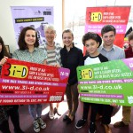 Youth cabinet members at the launch of the 3i-D card at libraries in East Sussex