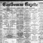 Front page of Eastbourne Gazette of June 23, 1915