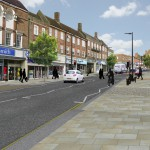 Artist's impression of revised Uckfield High Street plans