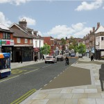 Artist's impression of revised plans for Uckfield High Street