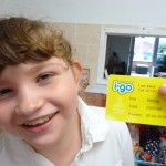 Ella Hibling received a gold i-go card after becoming the 1,000th person to sign up for the scheme