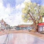 Artist's impression showing scheme to improve Hailsham town centre