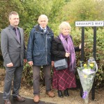 Launch of Rye Harbour cycle route named in tribute to Graham Mathews - pictured are Cllr Carl Maynard, East Sussex County Council lead member for transport and environment, with Graham's parents, Brian and Sue Mathews