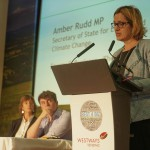 Amber Rudd, secretary of state for energy and climate change, speaks at the BEST4Biz conference, watched by Becky Shaw, East Sussex County Council chief executive, and Josh Valman of RPD International. Pic - Life Media Group (SBT)