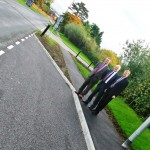 A new parking area has been provided outside Eastbourne Crematorium and Cemetery thanks to a Community Match scheme: Pictured (from left) are: Chris Lopez-Smith, senior highway engineer for East Sussex County Council, Cllr David Tutt, Eastbourne Borough Council leader, Cllr Alan Shuttleworth, East Sussex County Council member for Eastbourne Langney