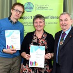 East Sussex County Council chairman Cllr Colin Belsey attended a ceremony to award certificates to the latest care providers to be approved to join the Support With Confidence scheme.