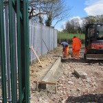 Kerbstones from Uckfield High Street have been used to create a new entrance to the Bluebell Railway goods yard at Horsted Keynes