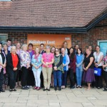 Celia Lamden, head of health visiting and children's centres (front row fourth from left) with the team from Hailsham