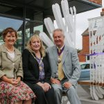 An event was held to celebrate the newly-installed artistic bench outside Seaford Library. Pictured (from left): Cllr Carolyn Lambert, East Sussex County Council member for Seaford Blatchington, Cllr Lindsay Freeman, mayor of Seaford, and Cllr Michael Ensor, chairman of East Sussex County Council