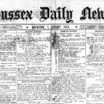 World War One newspaper. Scans of the Sussex Daily news from Saturday, August 1 1914.