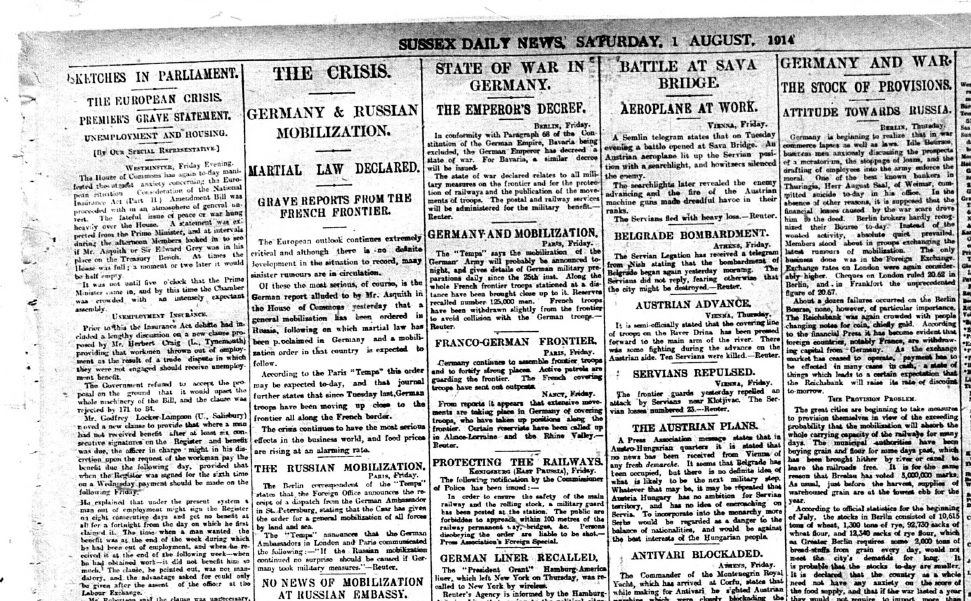 wwi newspaper assignment Wwi resources click here for the link for wwi technology web quest  subpages (1): wwi resources for newspaper assignment comments sign in | recent site.