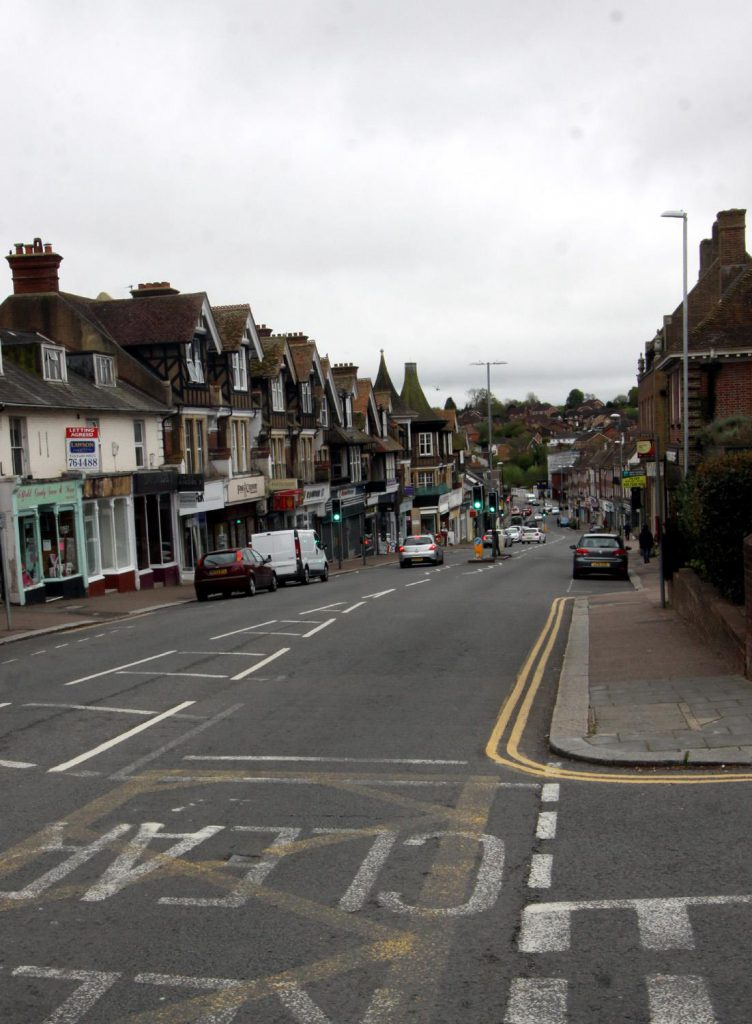 Uckfield High Street before the highway improvement scheme