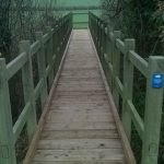 Refurbished footbridge between Vines Cross and Warbleton, near Heathfield
