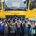 Gritter Salty McSaltface at Denton Community Primary School, Newhaven