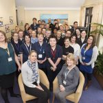 Staff at Milton Grange, in Eastbourne, celebrate their 'outstanding' rating by the Care Quality Commission