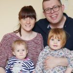Emma and Adam Wallace will take part in the first baby-naming ceremony at Southover Grange for daughters Evelyn and Bethany