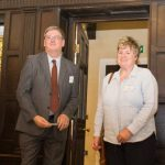 Cllr Bill Bentley, lead member for communities and ESCC project manager Carol Burns cut the ribbon to officially open Southover Grange