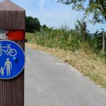 Grass cutting has been completed alongside the Ringmer Cycleway, between Lewes and Ringmer