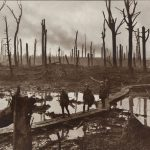 Battle of Passchendaele – Australian gunners in Château Wood near Hooge, in October 1917