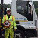 Mick Bishop - 50 years with East Sussex Highways