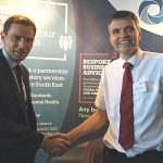 - Richard Strawson, East Sussex County Council team manager for Trading Standards (right), with David Taylor, from the Eastbourne-based Motion Picture Licensing Company