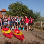 Eastbourne Round Table and 41 Club members at Cuckmere with some of the sit-on kayaks bought with their £1,500 donation to Buzz Active