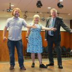 From left: Dave Izumi and Shoes Simes, from Performance Initiative Eastbourne (PIE), with Cllr Bill Bentley