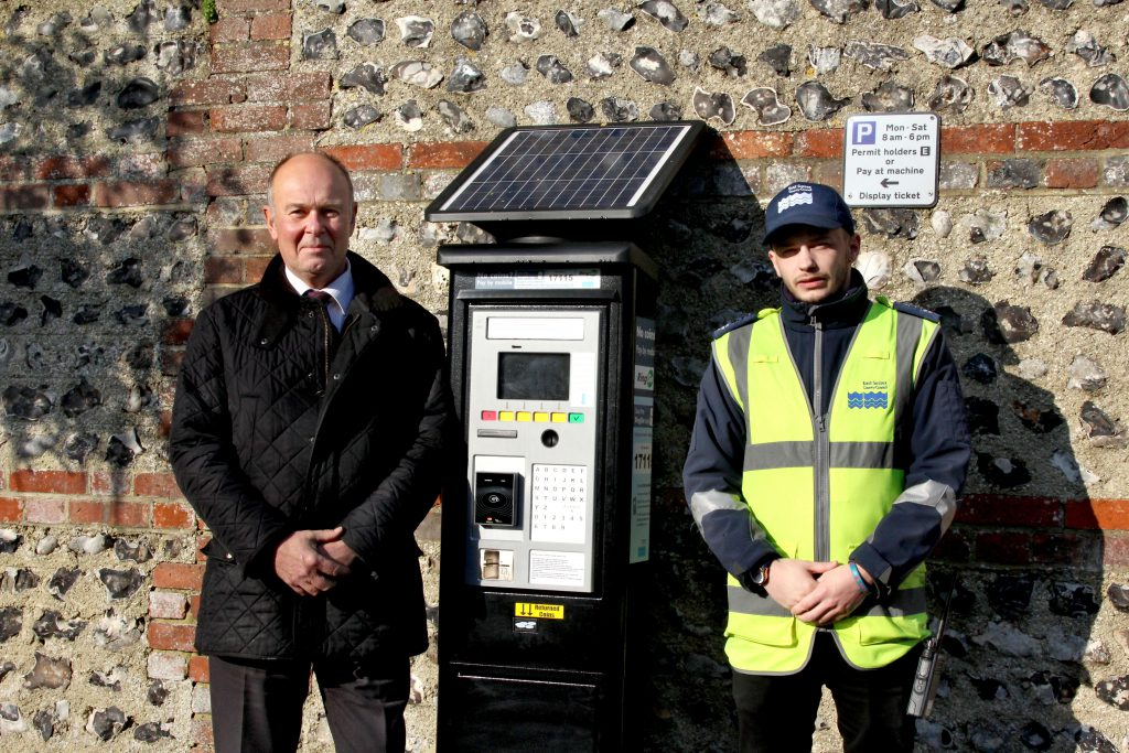 Cllr Nick Bennett, East Sussex County Council lead member for transport and environment, with George Marshall, senior civil enforcement officer