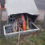 Damage to traffic lights controller in Polegate