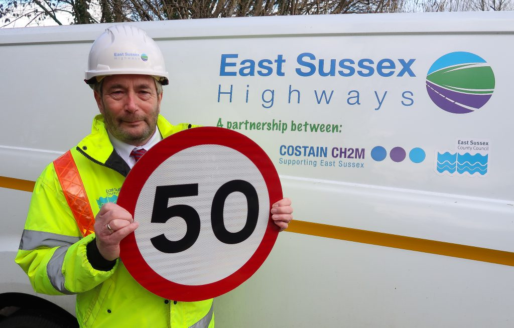 Bernie Gorringe has worked for East Sussex Highways for 50 years