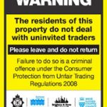 East Sussex Trading Standards No cold calling door sticker