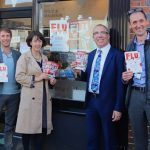 Staff from East Sussex County Council's public health team got their flu jab at St Anne's Pharmacy, in Lewes. Pictured (from left): Rob Tolfree, Victoria Spencer-Hughes, Darrell Gale and Ben Brown