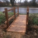 New footbridge in Hellingly