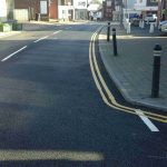 Road improvements in Croft Road, Crowborough